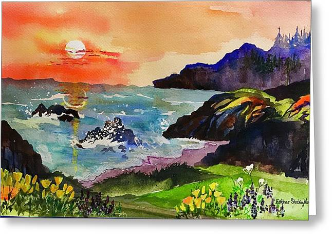 Sunset Sonoma Coast  Greeting Card