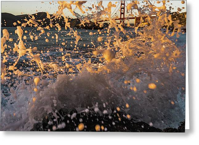 Sunset Splash Greeting Card