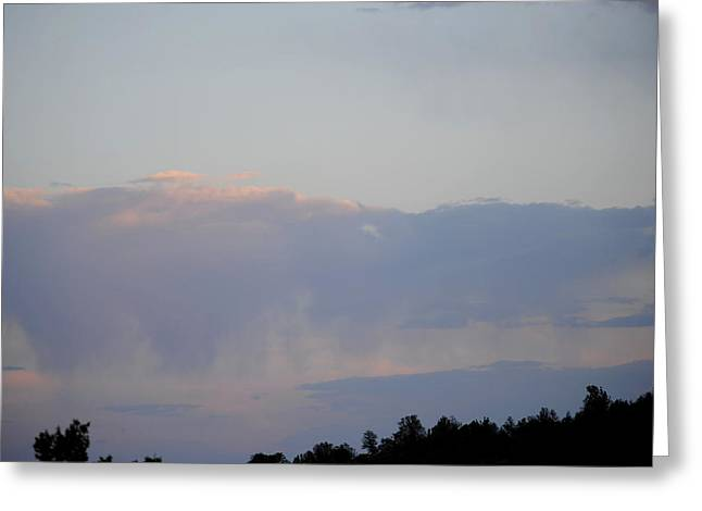 Sunset Storm Greeting Card by Jon Rossiter