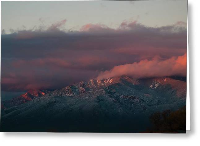 Sunset Storm On The Sangre De Cristos Greeting Card