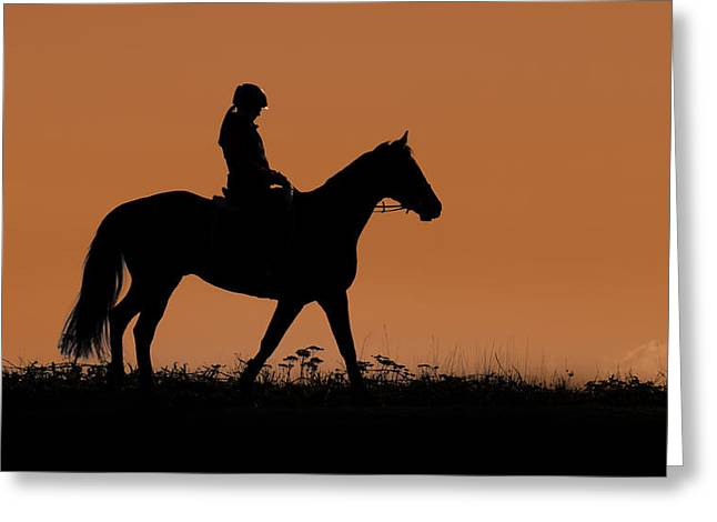 Sunset Stroll Greeting Card by Naman Imagery