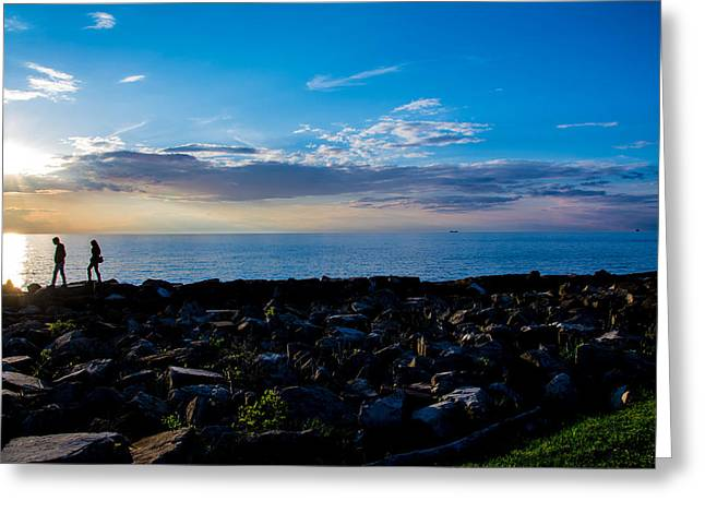 Sunset Stroll  Greeting Card by Paul Evans