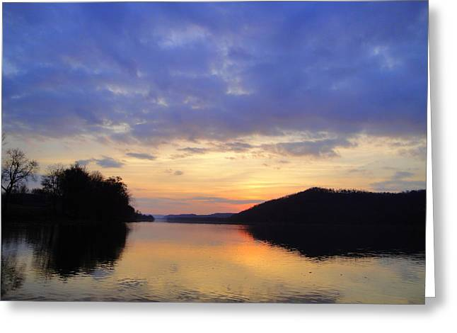 Sunset Sunday Greeting Card by Terry  Wiley