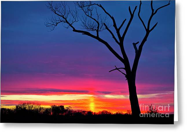 Sunset Sundog  Greeting Card