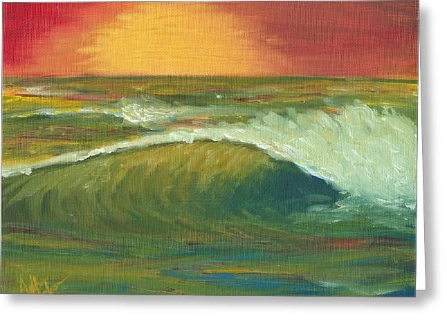 Sunset Surf Greeting Card