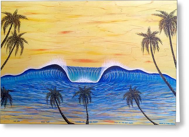 Sunset Surf Dream Greeting Card
