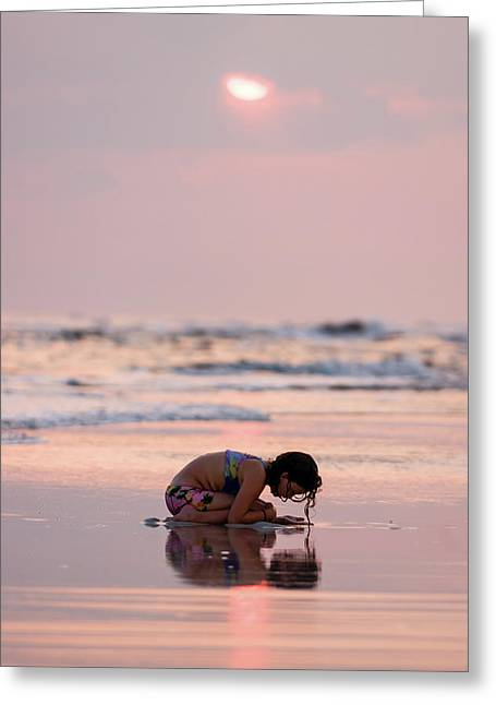 Sunset Surf Discovery Greeting Card