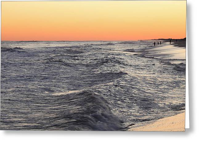 Sunset Surf Fishing Greeting Card