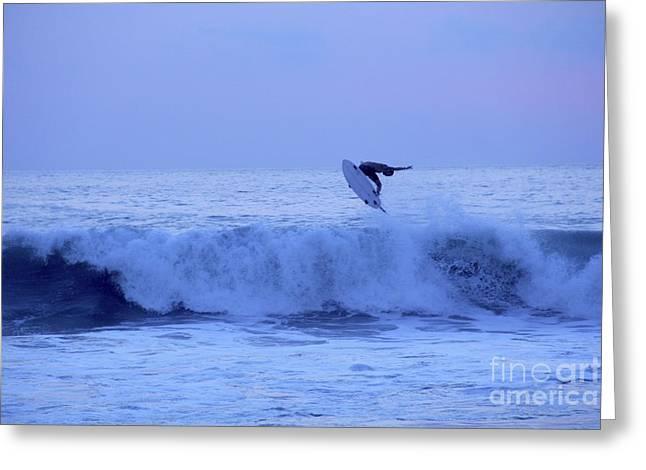 Sunset Surfer Puerto Escondido Oaxaca Mexico Greeting Card