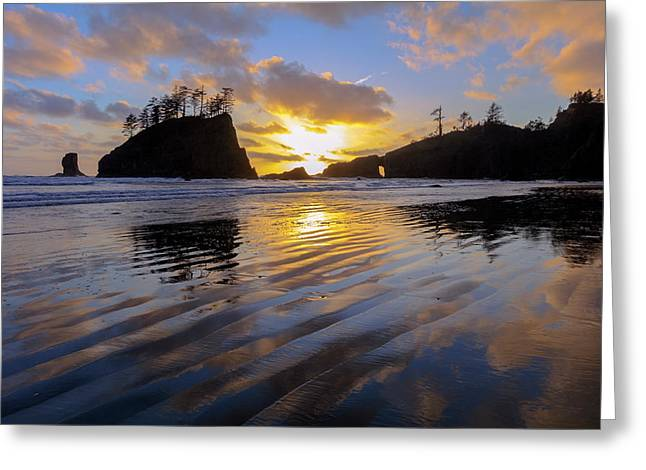 Greeting Card featuring the photograph Sunset Symphony by Mike Lang