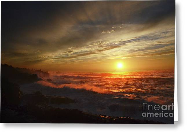 Sunset Third Planet From The Sun Greeting Card by Bob Christopher