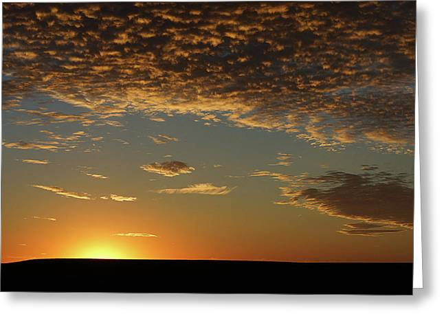 Greeting Card featuring the photograph Sunset by Thomas Bomstad