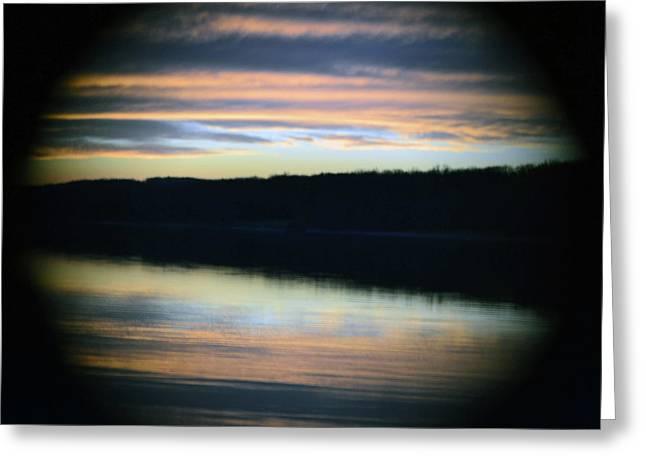 Sunset Through A Hole Greeting Card