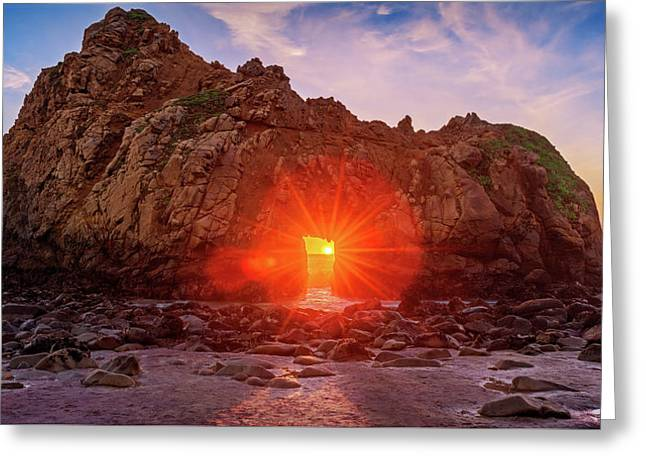 Greeting Card featuring the photograph Sunset Through  by John Hight