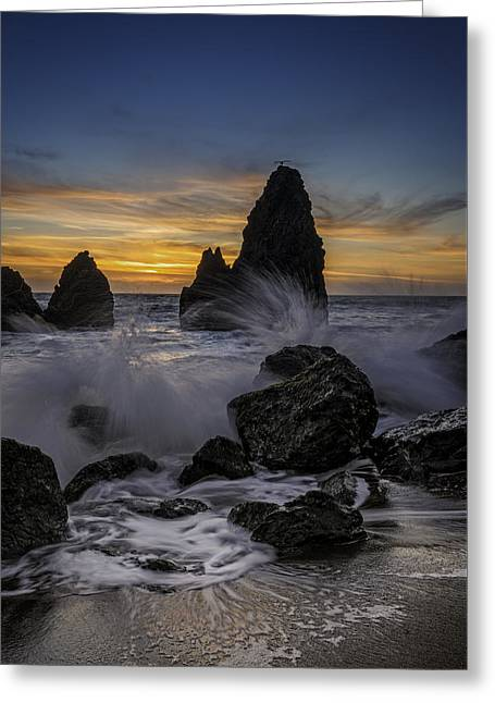 Sunset Tide On Rodeo Beach Greeting Card