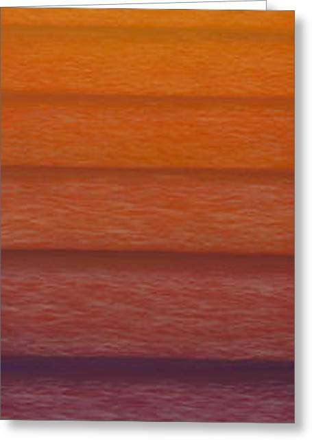 Sunset Greeting Card by Tim Foley