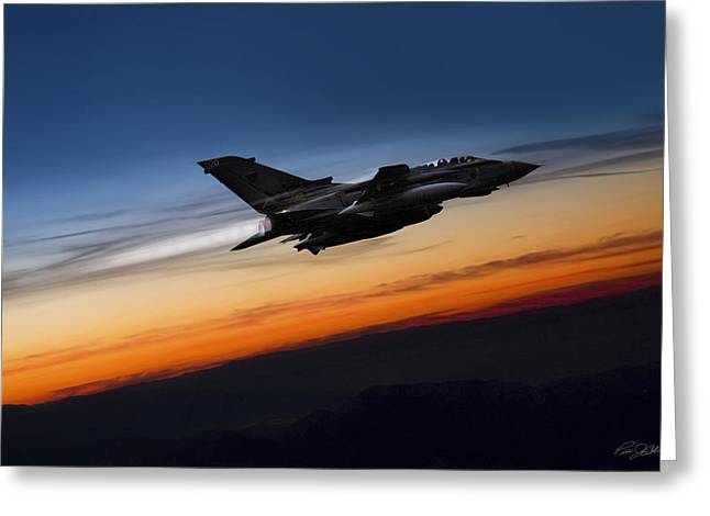 Sunset Tornado Greeting Card by Peter Chilelli