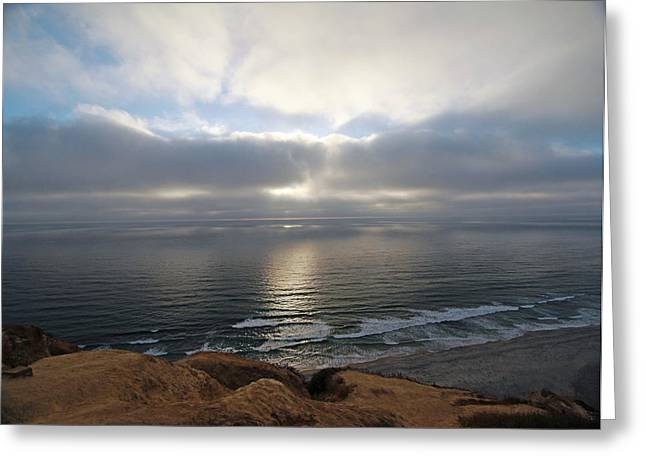 Sunset Torrey Pines Number One Greeting Card by Jeremy McKay
