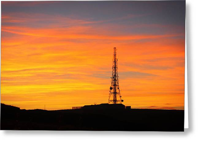 Sunset Tower Greeting Card by RKAB Works