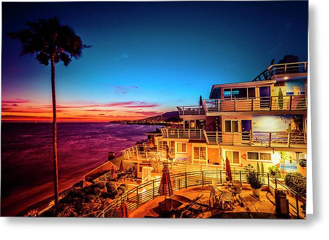 Sunset Twilight At The Laguna Riviera Greeting Card