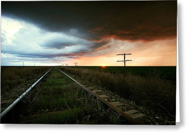 End Of A Stormy Day Greeting Card by Brian Gustafson