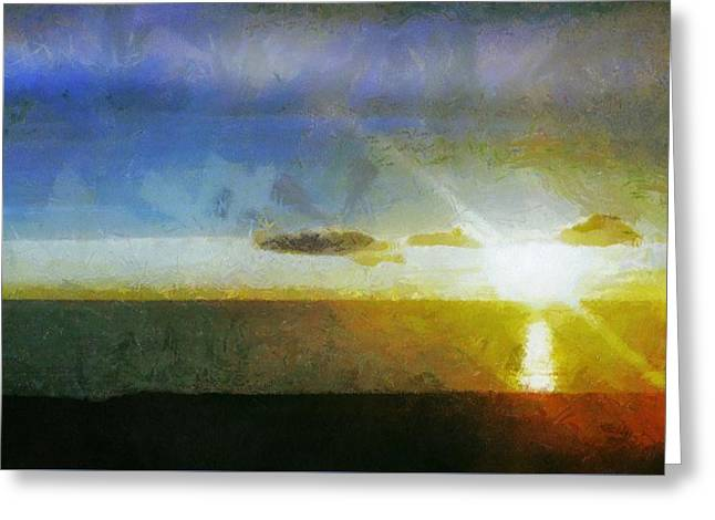 Sunset Under The Clouds Greeting Card by Jeff Kolker