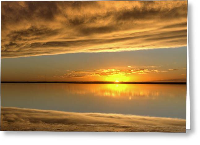 Sunset Under The Clouds Greeting Card by Rob Graham