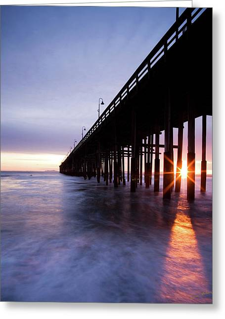 Sunset Under The Pier Greeting Card