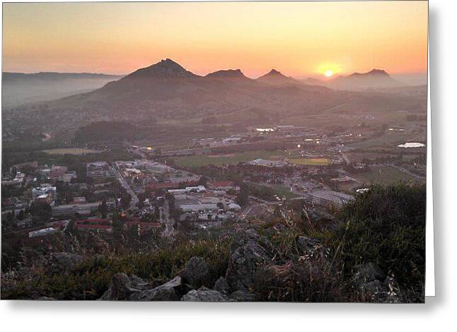 Sunset Valley Greeting Card by Alexa Hedtke