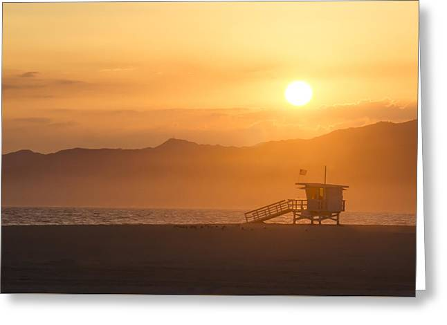 Sunset Venice Beach  Greeting Card