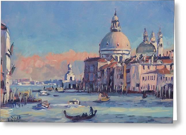 Sunset Venice Greeting Card