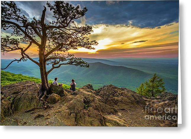 Sunset View At Ravens Roost Greeting Card