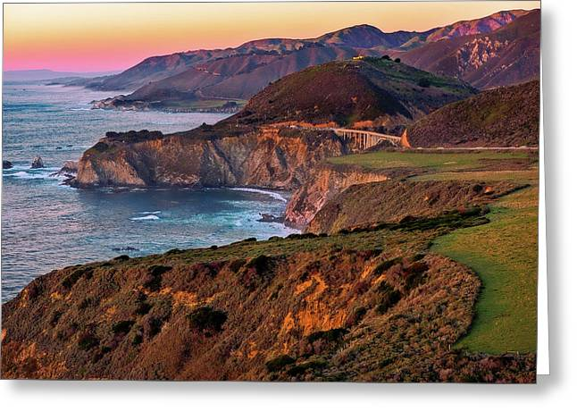 Greeting Card featuring the photograph Sunset View From Hurricane Point by John Hight