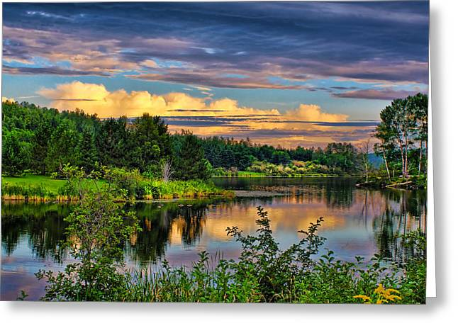 Greeting Card featuring the photograph Sunset View by Gary Smith