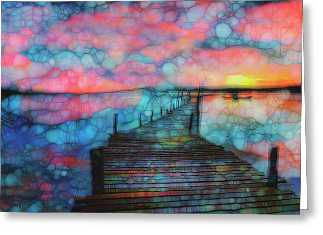 Sunset View Greeting Card by Jack Zulli
