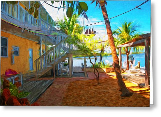 Sunset Villas Patio Greeting Card