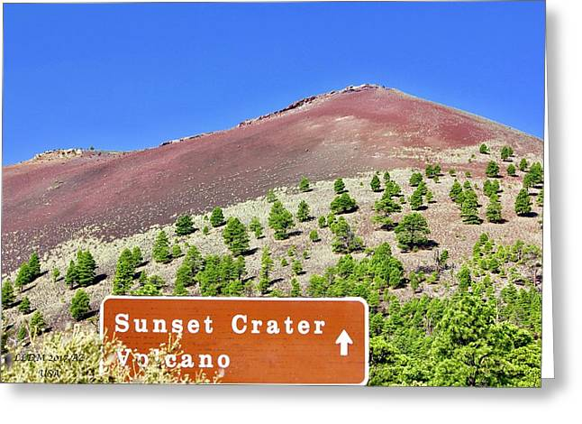 Sunset Crater Volcano Greeting Card