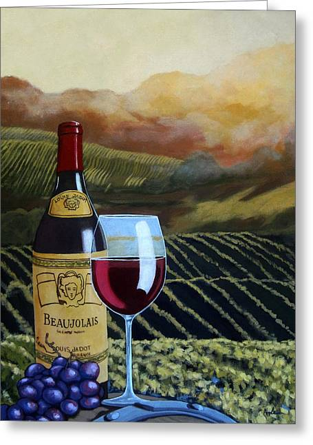 Sunset W/beaujolais Greeting Card