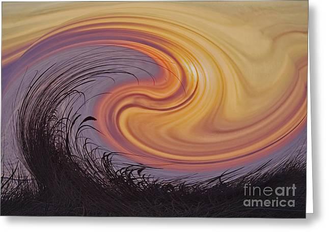 Sunset Greeting Card by Wedigo Ferchland