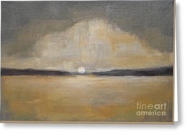 Sunset Greeting Card by Vesna Antic