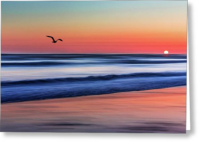 Sunset Widemouth Bay  Greeting Card