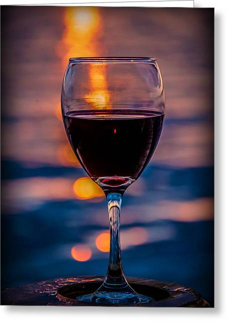 Greeting Card featuring the photograph Sunset Wine by Michaela Preston
