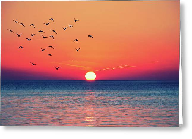 Sunset Wishes Greeting Card