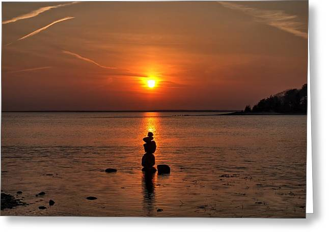 Sunset Zen Greeting Card