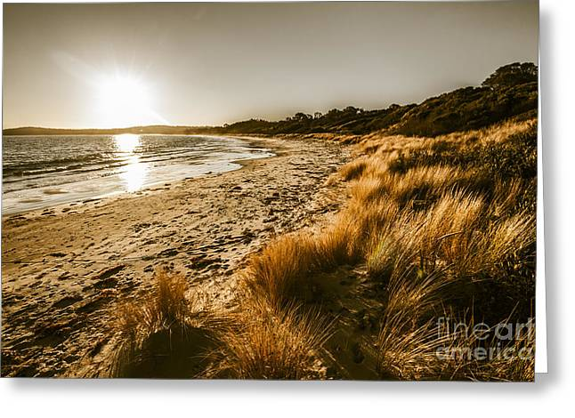 Sunsets And Tasmanian Seas Greeting Card by Jorgo Photography - Wall Art Gallery