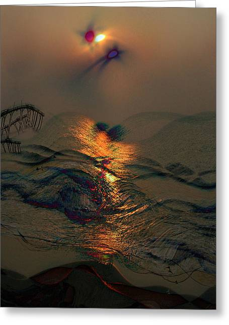 Sunsets Colorful Kisses Greeting Card by Julie Lueders