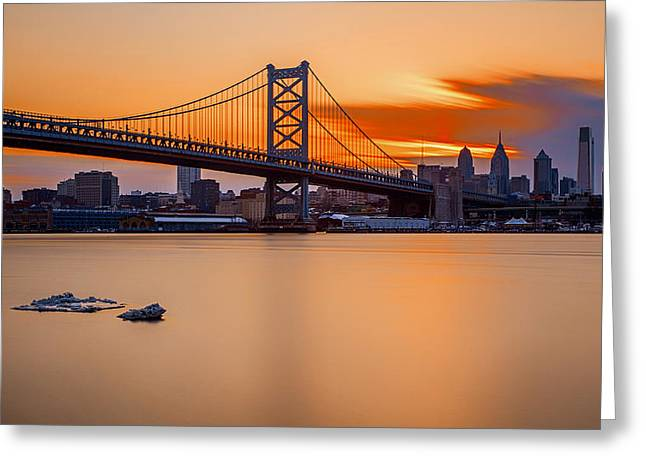 Sunsets Fire Greeting Card by Rob Dietrich