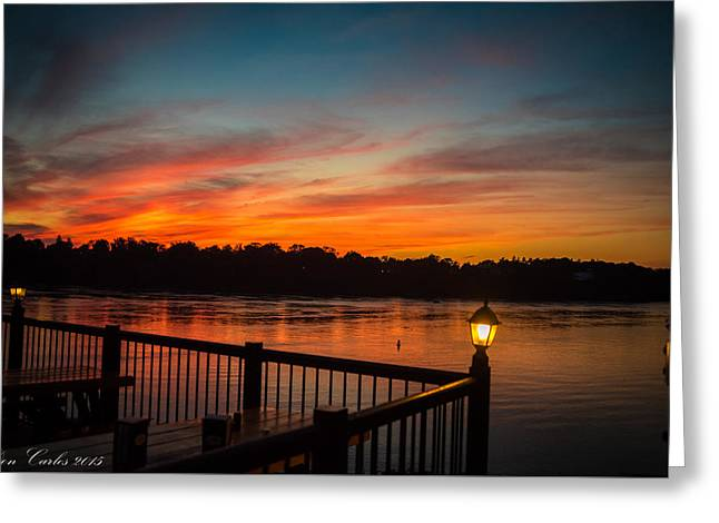 Sunsets In Lewiston Greeting Card by Carlos Ruiz