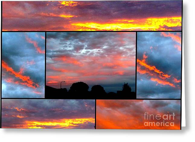 Sunsets Greeting Card by Joyce Woodhouse