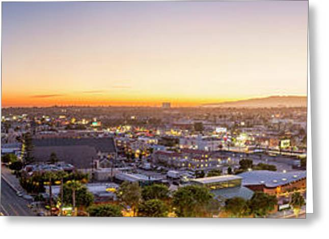 Glowing Sunset Culver City Greeting Card by Kelley King